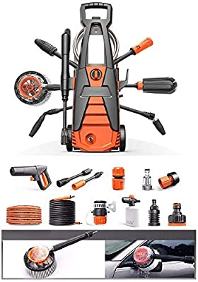Power Washer 120 Bar 1600W 480L/H Electric High Pressure Washer With Power Nozzle Gun And Spray Gun For Car, Garden, Patio dljyy by dljxx