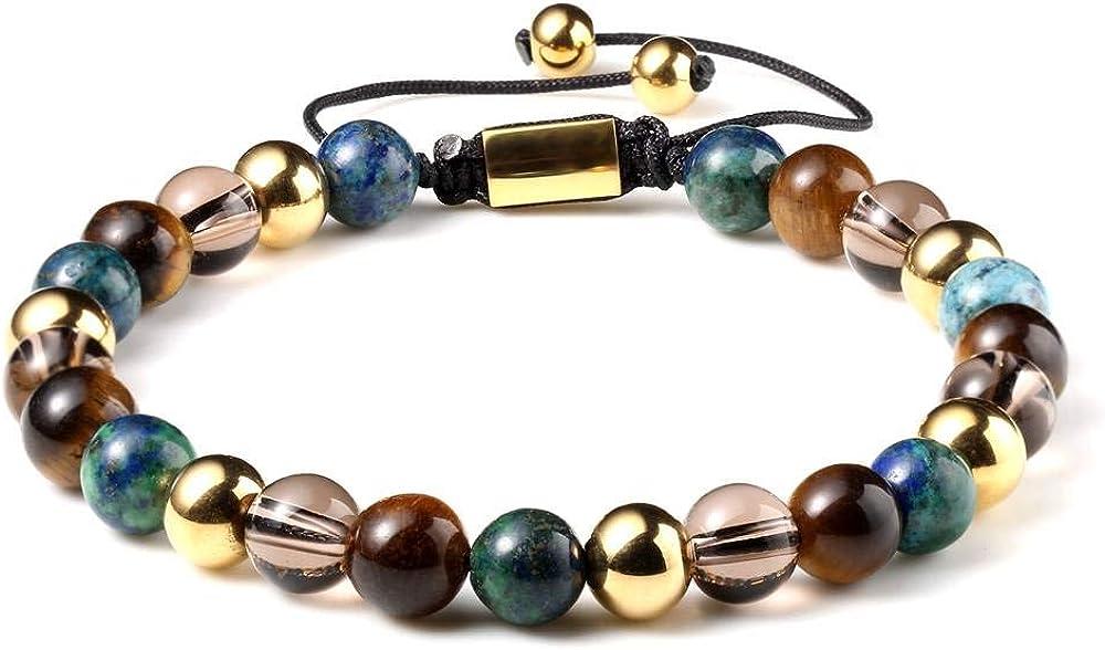 Multi Healing Men Gemstone Bracelet Superior Max 46% OFF Semi-precious Natural Ston -