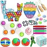 Juego de 25 juguetes para inquietos, sensoriales, juego de juguetes de extrusión de burbujas para aliviar el estrés, alivio de la ansiedad, para niños y adultos, autismo necesidades especiales