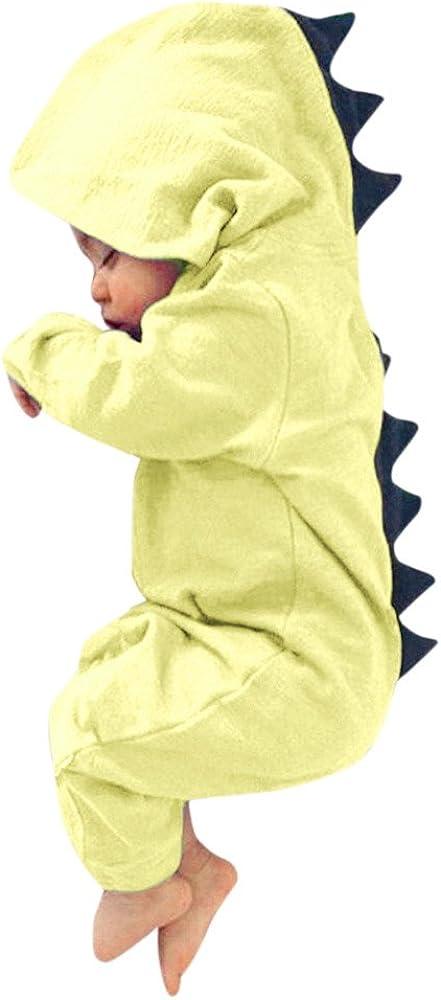 ☆HebeTop Max free shipping 54% OFF Newborn Baby Boy Girl Hooded Dinosaur Romper Jumps