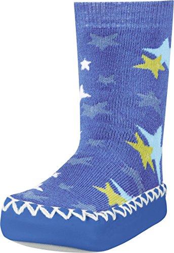 Playshoes Kinder-Hüttenschuhe aus Baumwolle, Hausschuhe für Mädchen und Jungen mit rutschhemmender Sohle, mit Sternen-Muster