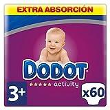 Dodot Activity Pañales Talla 3+, 60 Pañales - 7 kg - 11 kg