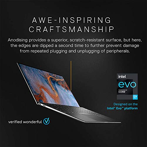 Dell XPS 9310 Intel Evo 11th Gen i5-1135G7 13.4 inches FHD Display Thin and Light Business Laptop (8 GB / 512 SSD / Integrated Graphics / Windows 10 + MSO / Silver, 1.2 kg, D560032WIN9S)