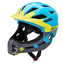 2 Ways To Play - The CPSC Certified full face helmet for kids provides maximum protection, especially protect the cervical spine. And you can easily detach the face guard to change the look and improve ventilation Impact Resistant & Light Weight - Th...