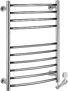 WHZWH Montado en la Pared eléctrico toallero, Acero Inoxidable 304 Plug-in/Cableado baño Radiador Calentador de Toallas y Secado Panel de 100W (30 X 22,6 X 3,2 Pulgadas),Plugin