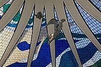 大人のためのジグソーパズルブラジル大聖堂ブラジリアパズル1000ピース木製旅行のお土産
