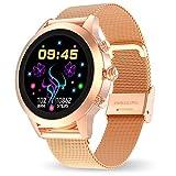 Aney Well Smartwatch Damen, Fitness Armband mit Pulsuhren Tracker Schrittzähler Schlafmonitor Stoppuhr Wasserdicht Sportuhr HD Farbdisplay Smart Armbanduhr IP68 Uhr für Android iOS