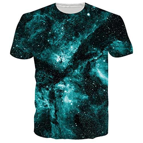 RAISEVERN Herren Unisex - Sommer - beiläufige T-Shirts Große