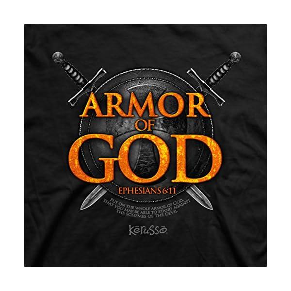 Armor of God Christian T-Shirt (Large), Black