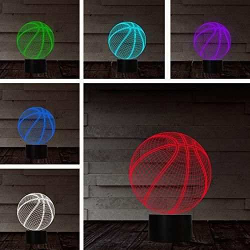 Y-POWER 1 Pc 3D LED Luz de Noche Baloncesto Figura de Acción de 7 Colores Cambiar Táctil Ilusión Óptica Lámpara de Mesa de la Habitación de los Niños