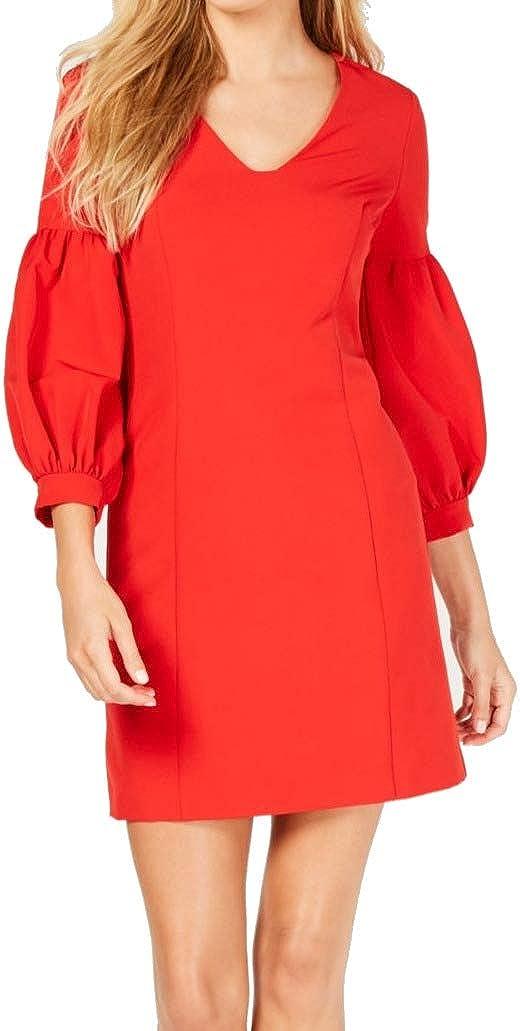 LAUNDRY BY SHELLI SEGAL Women's Puff-Sleeve Sheath Dress