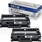 2 Pack Black DR-730 DR730 Compatible High Yield Drum Unit Replacement for Brother DCP-L2550DW MFC-L2710DW L2750DW L2750DWXL HL-L2350DW L2370DW/DWXL L2395DW L2390DW Printer Drum Unit