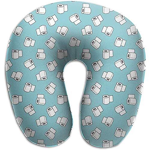 Premium-Reisekissen-Memory Foam Kopfstütze Weiches Nackenkissen für Schlafstütze Flugzeugauto Road Trip Liebhaber Toilettenpapierrolle