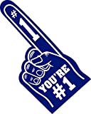 Finger You're Number 1 Foam Hand for All Occasions Cheerleading Pompom for Sports Exciting Colours Athletics Local Sport Events Games School Business Celebration Pom Poms 18 Giant Foam (Navy)