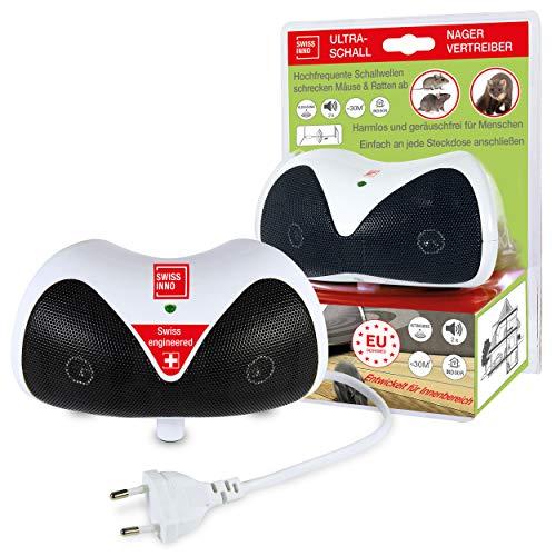Ultraschall Schädlingsbekämpfer - Nagetier-Vertreiber 30m²: Vertreibt Mäuse, Ratten & andere Nager mit Ultraschall, für Innen