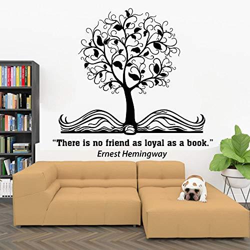 HGFDHG Libros Pegatinas de Pared Libros Son Amigos Cita Educación Vinilo Pegatinas para Ventanas Librería Sala de Lectura Sala de Estudio Biblioteca Decoración Interior Mural