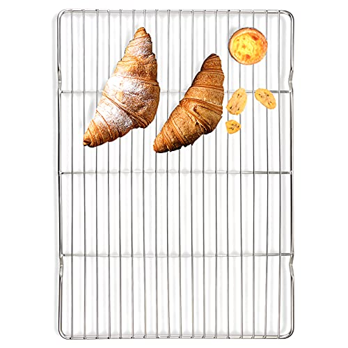 Sc0nni Cooling Rack and Baking Rack, Baking Rack For Baking Sheet, Oven Safe, Heavy Duty Stainless Steel Baking Rack & Cooling Rack, Wire Baking Cookie Bacon Racks For Oven Use, 15.4 x 11.4 inches