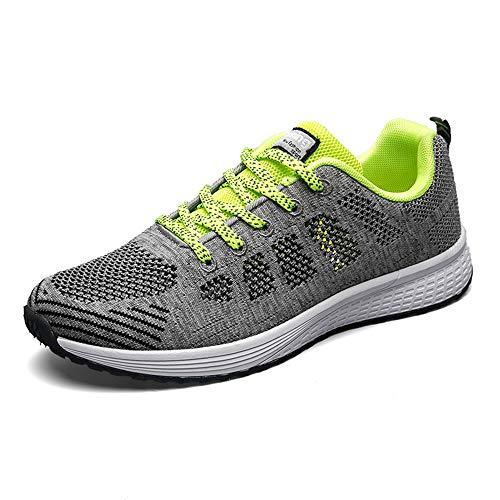 XPERSISTENCE Sportschuhe Herren Laufschuhe Sneakers Trainer Turnschuhe Fitness Gym Leichtes Bequem Schuhe (Dunkelgrau 43 EU)