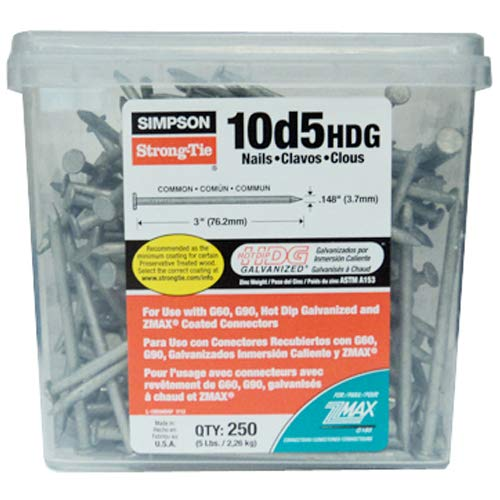 Simpson Strong Tie 10D5HDG Structural Connector 3-Inch by .148-Inch...