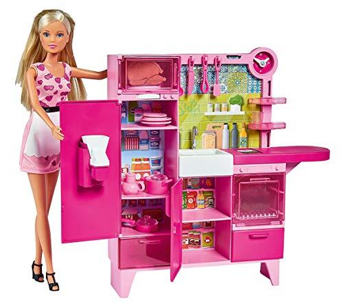 Simba - Steffi Love Kitchen Studio, Cucina con 30 Accessori Inclusi, 3 Anni, 105733342
