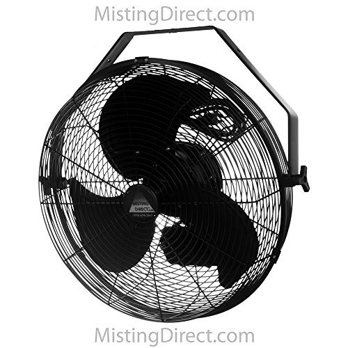 Misting Direct Wet Location Fan w/ 18 Inch Blades, Indoor/Outdoor, Wall/Ceiling/Pole Mount...