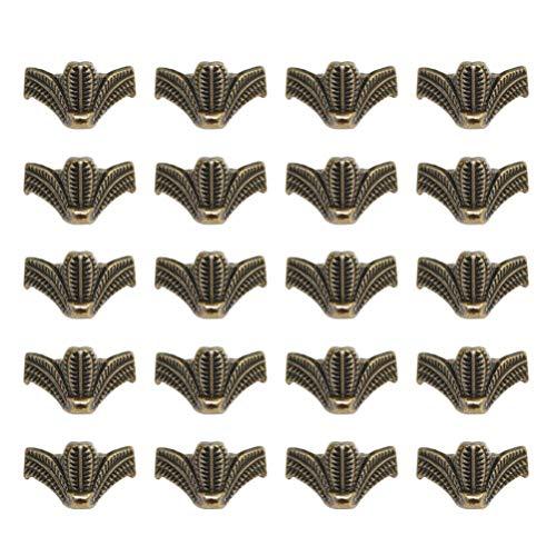 WINOMO 20 Stück Möbelsofa Stützfüße Geschenkbox Beine Retro Zinklegierung Ersatzbeine Stützen für Möbel Regal Stuhl Bett 27X16mm