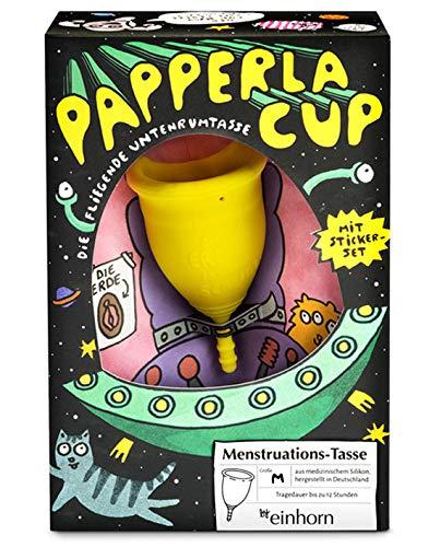 Papperlacup by einhorn - Copa menstrual de silicona médica, sostenible, fabricada en Alemania (media)