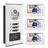 7 Pollici Videocitofono Video Door Phone Campanello Telecamera, Videocitofono Campanello Video Set per la Sicurezza Domestica