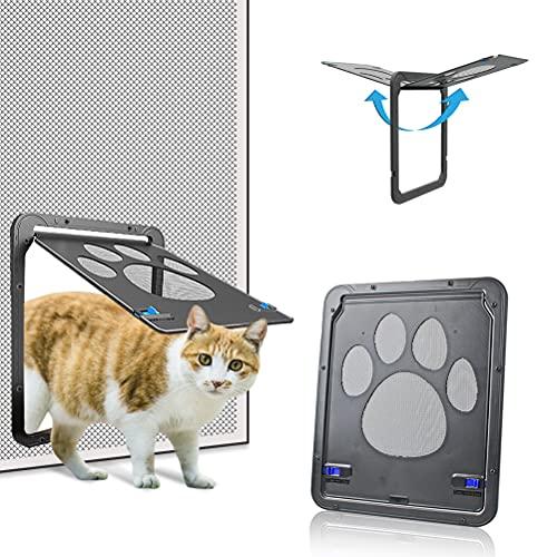 Dog Screen Door, Inside Door Flap 8x10x0.4 inch, Lockable Pet Screen Door, Magnetic Self-Closing Screen Door with Locking Function, Sturdy Screen Door for Dogs Cats