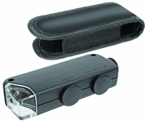 Bresser 60x-100x Taschenmikroskop (mit integrierter LED Beleuchtung und Zoomfunktion inklusive Etui)