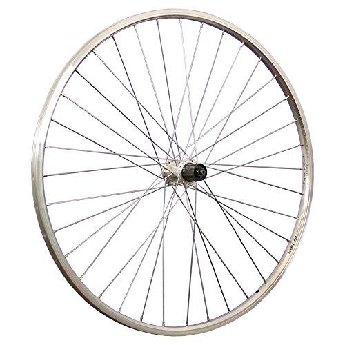 Taylor-Wheels 28 Zoll Hinterrad Alu Hohlkammerfelge YAK19 / Shimano Tourney FH-TX500 Nabe - Silber