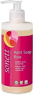 Sonett Organic Hand Soap Citrus, Lavender, Sensitive, Calendula, Rose and Foam Soap, 1 Count and 6 Count (Rose, 1 Count)