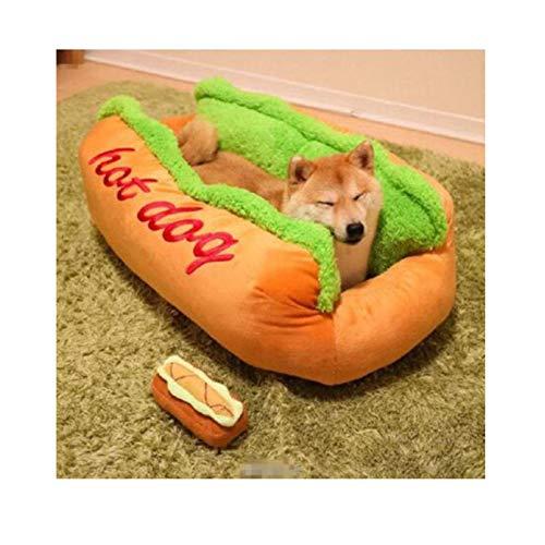 LLSL Cama de Mascotas de la Forma del Perro Caliente del algodón, el Nido del Perro del Gato de la Perrera Cojín de la Estera Caliente, Lavable 63 * 47 * 21 cm