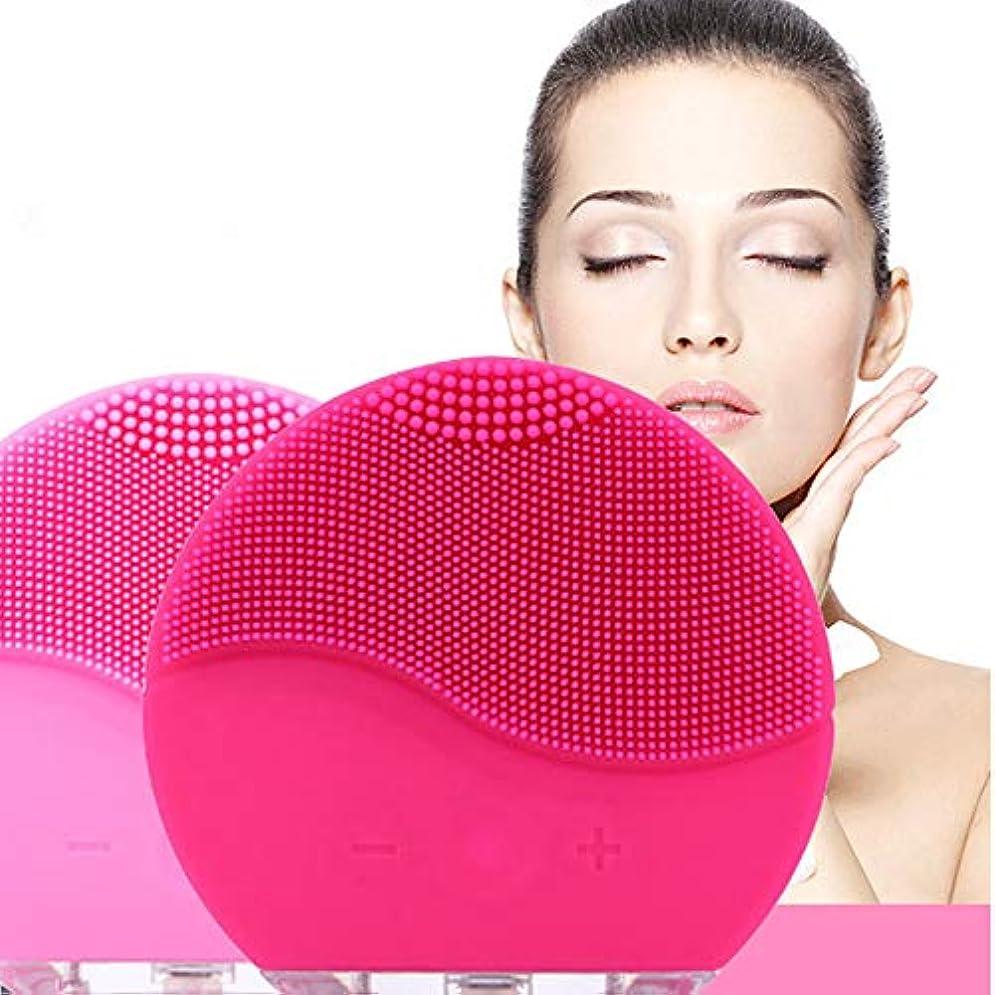 ブラウズとまり木敗北Electric Silicone Facial Cleansing Brush Sonic Vibration Massage USB Rechargeable Smart Ultrasonic Face Cleaner Beauty Tool 電気シリコーンフェイシャルクレンジングブラシソニック振動マッサージUSB充電式スマート超音波フェイスクリーナービューティーツール