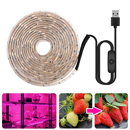 Fovely Led Grow Light Strip for Indoor Plants,5050 SMD Waterproof Red Blue 4:1 Rope Lamp for Indoor Plants Tent Seedling Hydroponics