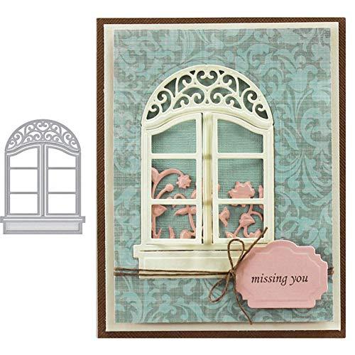 Stanzformen für Kartenherstellung, Fenster, Metall, DIY, Scrapbooking, Prägung, Papier, Karten, Bastelschablone, Form – Silber