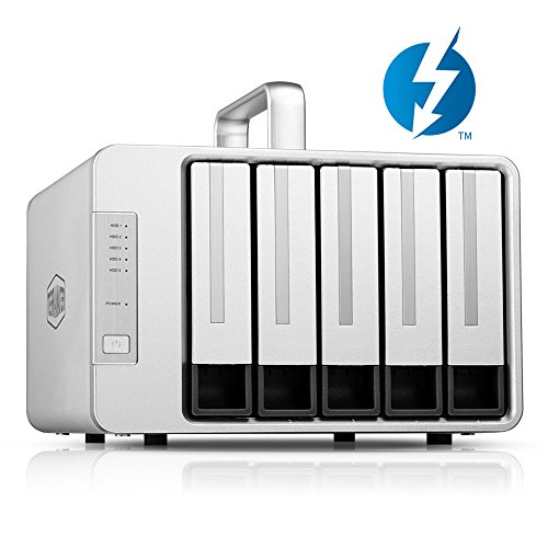 TERRAMASTER D5 Thunderbolt 3 (40Gbps) 5-Bay Externes Festplattengehäuse RAID-Speicher, RAID Gehäuse (Ohne Festplatte, 2 x Thunderbolt 3)
