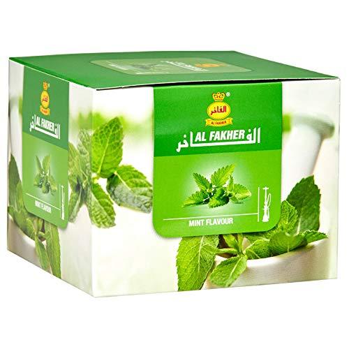 AL-Fakher Mint Premium Sabor Shisha 1 kg para pipa de agua/hukka/hookha, con carbón libre