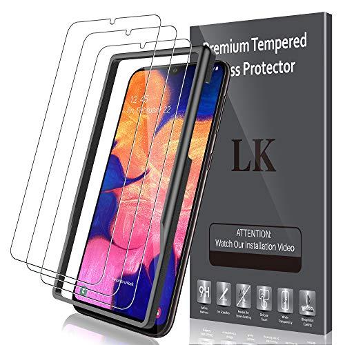 LK 3 Stück Schutzfolie für Samsung Galaxy A10, Samsung Galaxy A10 Panzerglas, 9H Härte Panzerglasfolie, HD Klar Displayschutzfolie, [Anti-Kratzen] [Blasenfrei] [2.5D Rand] [Einfacher Montage]