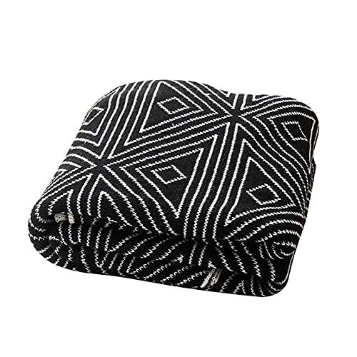 Tejido Manta Acrílico Acogedor Ligero Manta Suave y Ligero Decorativo Mantas para Silla Cama Sofá Viaje Apto para Todas Las Estaciones