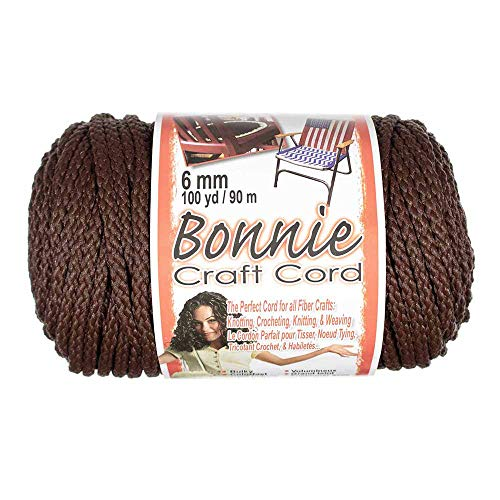 Craft County Bonnie Cord – 6mm Diameter – 100 Yards in Length (Brown)