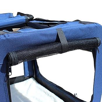 YATEK Sacs de Transport pour Chien Chat Portable avec des entrées latérales et supérieures avec Une visibilité, Un Confort et Une sécurité élevés pour Votre Animal (Taille L (70 x 52 x 52 cm))