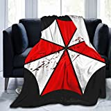 Classic Resident Evil Umbrella Corp Ink Splash Blood Blanket Durable Ultra-Soft Comfortable Luxury Blanket All Seasons for Bedroom Living Room Sofa Home Office Travel Picnic 50'X40'