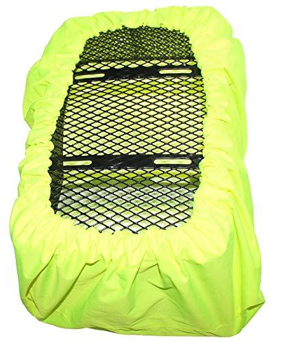 P4B Fahrradkorbabdeckung Regenschutz REFLEX Neongelb Wasserabweisend mit Reflexstreifen - 3