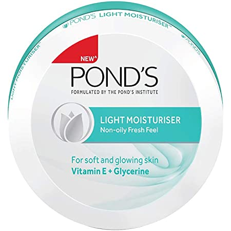POND'S Light Moisturiser, Non- Oily With Vitamin E And Glycerine, For Soft And Glowing Skin, 250 ml