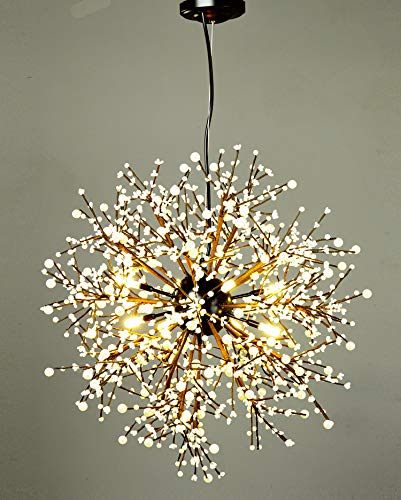 Garwarm Chandeliers,Firework Vintage Chandelier, Island Pendant Lighting Ceiling Light Fixtures for Living Room Bedroom Restaurant Hallway, Dia 23.5 inch