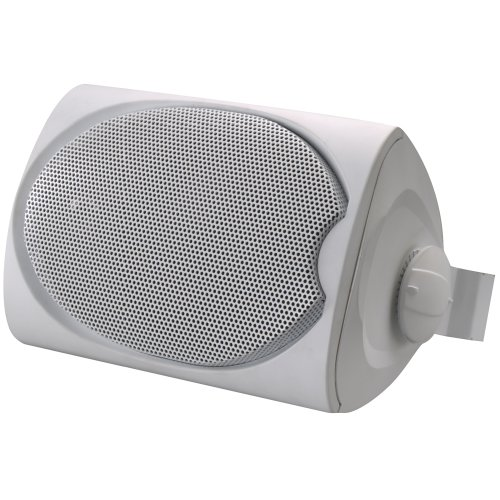 Leviton SGO99-W Outdoor/Utility Two-Way Loudspeaker with Bracket, White