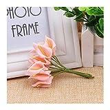 HETHYAN Ramo de flores artificiales de espuma para decoración del hogar, decoración de boda, día de San Valentín, DIY (color: 6, tamaño: 12 piezas)
