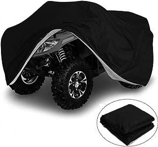 VVHOOY Waterproof Heavy Duty ATV Cover 210D All Weather 4 Wheeler Quad Covers Protect ATV From Sun Rain Dust Snow (XXXL,Black)