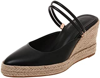 Melady Women Fashion Weaving Wedge High Heels Mules